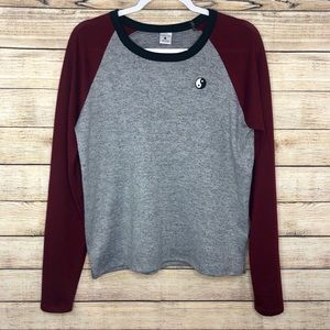 Empyre Yin Yang Color Block Knit Top L